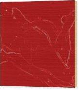 Nude Model 3 -rojo Wood Print