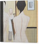 Nude Of M.b. Wood Print