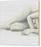 Nude On The Beach Wood Print