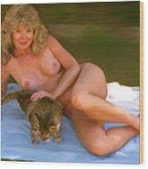 Nude Picnic 4 Wood Print