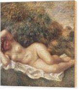 Nude Wood Print by Pierre Auguste Renoir