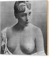 Nude Portrait, C1885 Wood Print