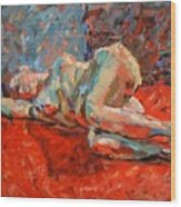 Nude Portrait Of Mary Wood Print