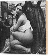 Nude Posing, C1843 Wood Print