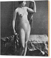 Nude Posing, C1855 Wood Print