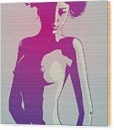 Nude Princess Leia Wood Print
