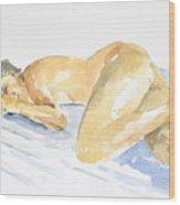 Nude Serie Wood Print by Eugenia Picado