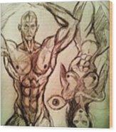 Nude Sketch 49 Wood Print