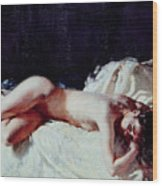 Nude Study Wood Print by Sir William Orpen