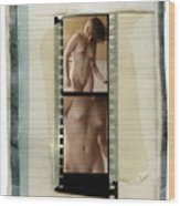 Nude Taped Images 1 And 2 Wood Print