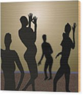 Nude Volleyball Wood Print by Jerry Cooper