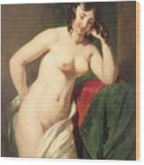 Nude Wood Print by William Etty