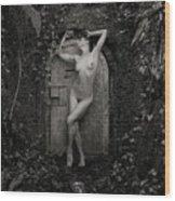 Nude Woman And Doorway Wood Print