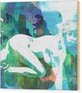 Nude Woman Painting Photographic Print 0031.02 Wood Print