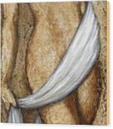 Nude Woman Standing Wood Print