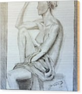 Nude Woman Viii Wood Print