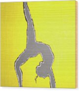 Nude Yoga Girl Gray Wood Print