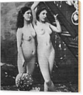 Nudes At Festival, C1900 Wood Print