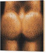 Nudist - Just Cheeky Wood Print by Mike Savad