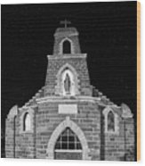Nuestra Senora De Refugio, Illuminated By The Moon And Yard Lig Wood Print