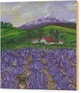 Nui In Lavender Field Wood Print
