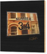 Number 34 Wood Print
