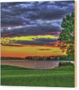 Number 4 The Landing Reynolds Plantation Golf Art Wood Print
