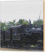 Number 6 Shay Steam Engine Wood Print