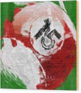 Number Fifteen Billiards Ball Abstract Wood Print