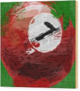 Number Seven Billiards Ball Abstract Wood Print