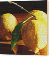 Nurse Beckys Lemons Wood Print