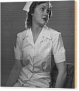 Nurse Rembrandt Lighting Wood Print