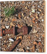 Nuts And Bolts Rusted Wood Print