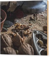 Nuts And Spices Series - One Of Six Wood Print