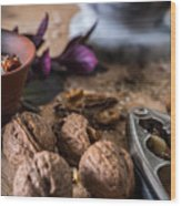 Nuts And Spices Series - Six Of Six Wood Print