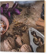 Nuts And Spices Series - Three Of Six Wood Print