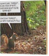 Nuts Wood Print