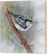 Nutthatch Wood Print