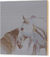 Nuzzle Wood Print