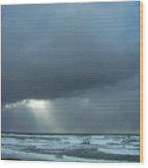N.w. Beach Rays Wood Print