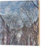 Ny City Street Wood Print