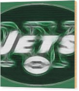 Ny Jets Fantasy Wood Print by Paul Ward