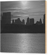 Ny Panorama Vertical Wood Print