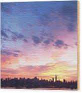 Ny Skyline Dawn Delight Wood Print