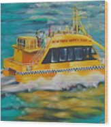 Ny Water Taxi Wood Print