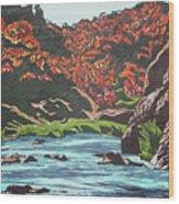 Nyangombe River Wood Print