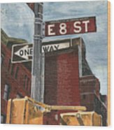 Nyc 8th Street Wood Print by Debbie DeWitt