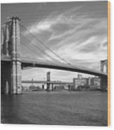 Nyc Brooklyn Bridge Wood Print by Mike McGlothlen