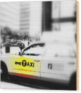 Nyc Cab Wood Print by Funkpix Photo Hunter