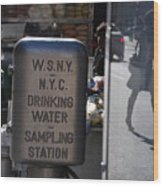 Nyc Drinking Water Wood Print